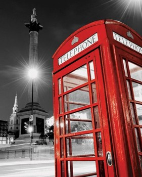 Poster Red telephone box