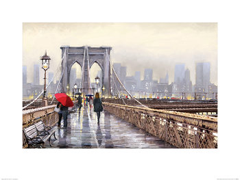 Konsttryck Richard Macneil - Brooklyn Bridge