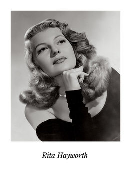 RITA HAYWORTH Kunstdruck