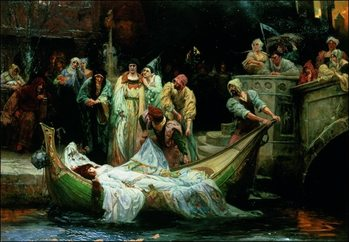 Robertson - The Lady Of Shalott Kunstdruck