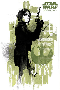 Poster  Rogue One: Star Wars Story - Jyn Grunge