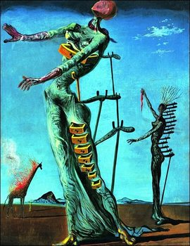 Konsttryck Salvador Dali - Girafe En Feu