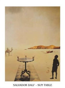 Konsttryck Salvador Dali - Sun Table