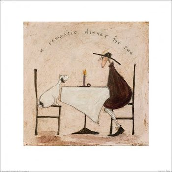 Konsttryck Sam Toft - A Romantic Dinner For Two