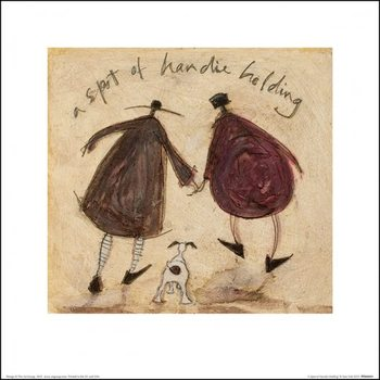 Konsttryck  Sam Toft - A Spot of Handie Holding