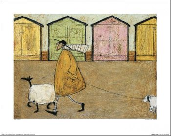 Konsttryck Sam Toft - Along The Prom
