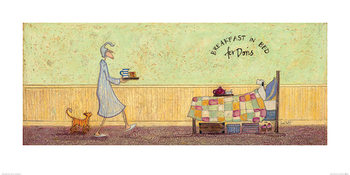 Konsttryck Sam Toft - Breakfast in Bed For Doris
