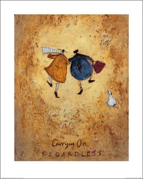 Konsttryck Sam Toft - Carrying on Regardless