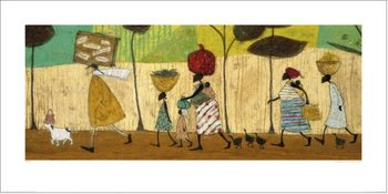 Konsttryck Sam Toft - Doris helps out on the trip to Mzuzu