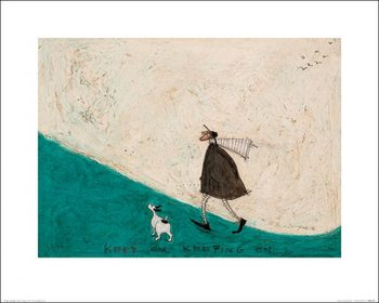 Konsttryck  Sam Toft - Keep On Keeping On