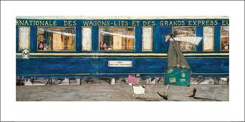 Konsttryck Sam Toft - Orient Express Ooh La La