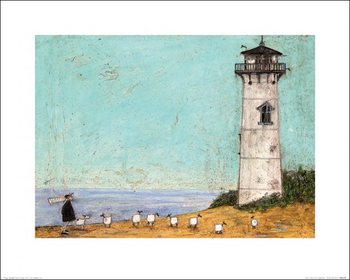 Konsttryck Sam Toft - Seven Sisters And A Lighthouse