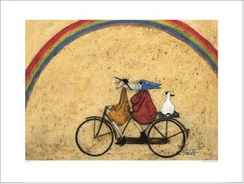 Konsttryck Sam Toft - Somewhere Under a Rainbow