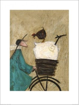 Konsttryck  Sam Toft - Taking the Girls Home
