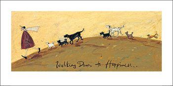 Konsttryck Sam Toft - Walking Down To Happiness