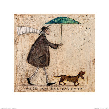 Konsttryck Sam Toft - Walking The Sausage