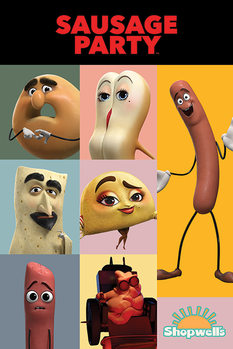 Poster Sausage Party - Characters
