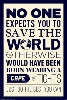 Poster Save the world