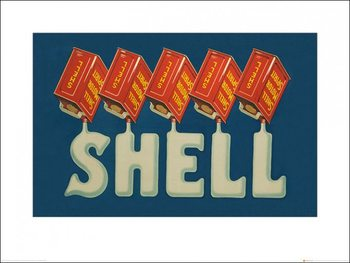 Shell - Five Cans 'Shell', 1923 Poster