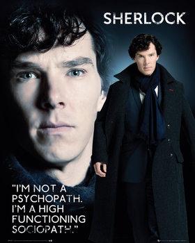 Poster Sherlock - Sociopath