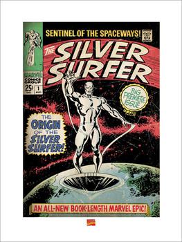 Konsttryck Silver Surfer