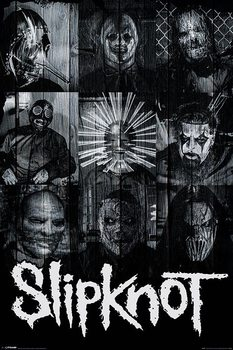 Плакат Slipknot - Masks