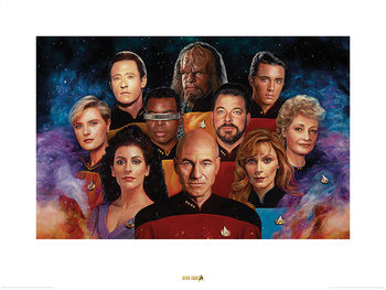 Star Trek - The Next Generation - 50th Anniversary Kunstdruck