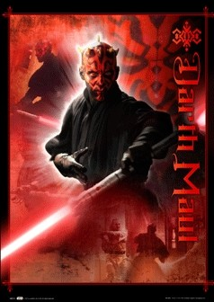 STAR WARS - darth maul3D poster
