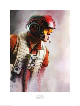 Star Wars: Die letzten Jedi- Poe Paint Kunstdruck