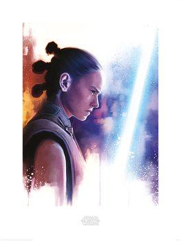 Star Wars: Die letzten Jedi- Rey Lightsaber Paint Kunstdruck