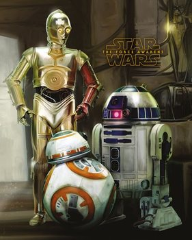 Poster Star Wars Episod VII: The Force Awakens - Droids