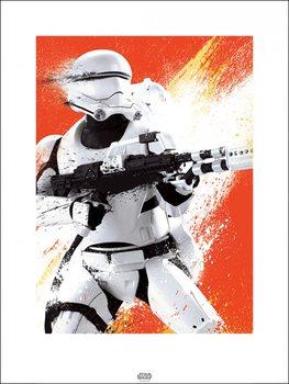 Star Wars: Episode VII – Das Erwachen der Macht - Flametrooper Paint Kunstdruck