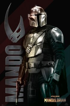 Póster Star Wars: The Mandalorian - Mando