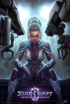 Poster Starcraft 2 – kerrigan
