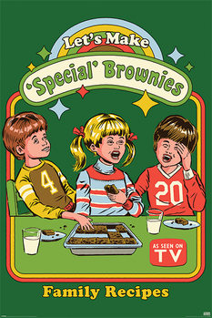 Poster  Steven Rhodes - Let's Make Special Brownies