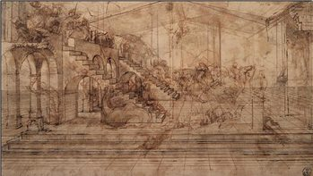 Konsttryck Study of The Adoration of the Magi
