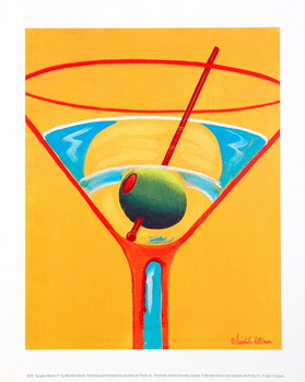 Sunglow Martini III Kunstdruck