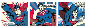 Poster Superman - Pop Art Triptych
