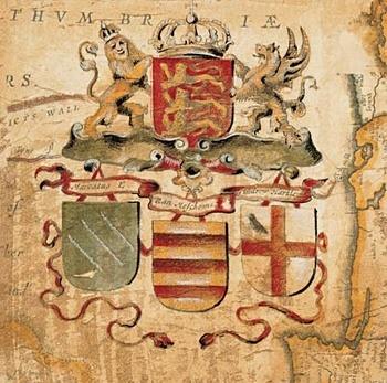 Poster Terra Nova IV - s červenou linkou 27 x 27 cm