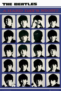 Poster the Beatles - hard days night