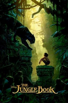Poster The Jungle Book - Bagheera & Mowgli Teaser