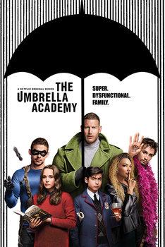 Плакат The Umbrella Academy - Super Dysfunctional Family