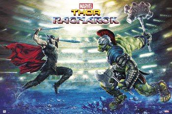 Poster Thor Ragnarok - Battle
