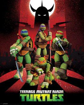 Póster Tortugas ninja - Shredder Silhouette