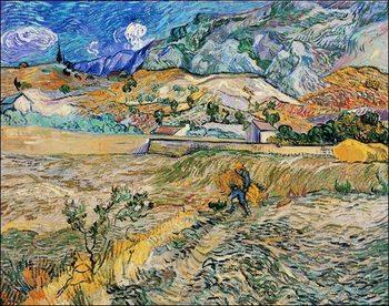 Konsttryck Van Gogh - Paesaggio a San Remy