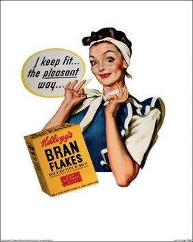 Poster Vintage Kelloggs - I Keep Fit