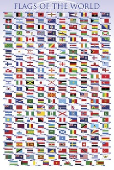 Poster Vlaggen van de wereld