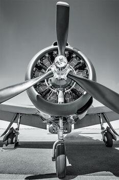 Poster Vliegtuig - Propeller