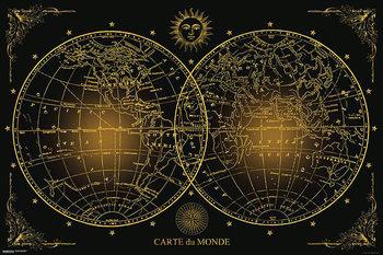 Poster Weltkarte