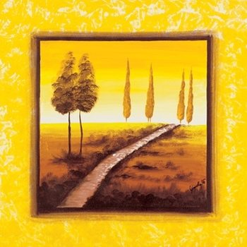 Yellow Path Kunstdruck